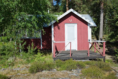 Red summer cabin Royalty Free Stock Image