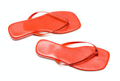 Red summer Shoes Royalty Free Stock Photo