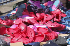 Free Red Summer Shoes Stock Images - 95026884