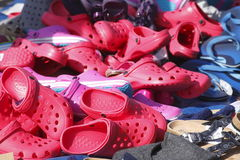 Red Summer Shoes Royalty Free Stock Image