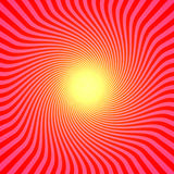 Red Sun. Abstract, Rays Shine From A Bright Center, Illustration Background Royalty Free Stock Photos