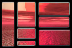 Red sun. Graphic banners and logos Royalty Free Stock Images