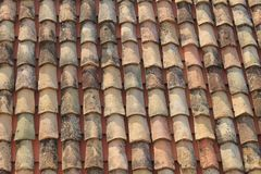 Red tiles on the roof royalty free stock image