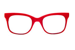 Red sun glasses frames Royalty Free Stock Photography