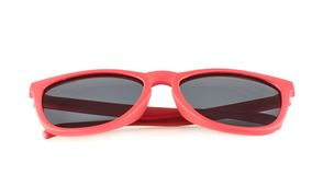 Red sun glasses isolated Stock Images