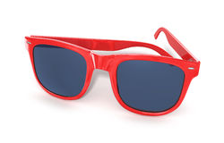 Red sun glasses Stock Photos