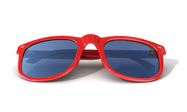 Red sun glasses Royalty Free Stock Photography