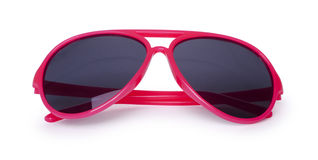 Red sun glasses isolated over the white Royalty Free Stock Photo