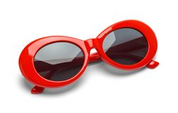 Red Sun Glasses Rounded stock photography