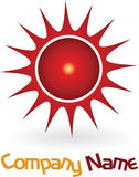 Red sun logo Stock Photos