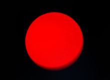 Red Sun or Planet Stock Photos