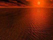 Red Sun Seas Stock Images