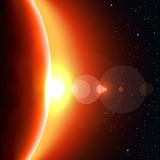 Red sun shine Royalty Free Stock Images