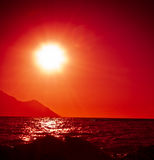 Red sun Stock Photography