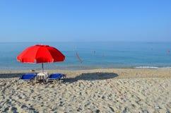 Red sun umbrella Royalty Free Stock Photography