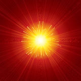Red Sunburst Stock Photography