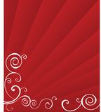 Red Sunburst with swirls Royalty Free Stock Images