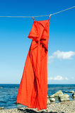 Red sundress Stock Images