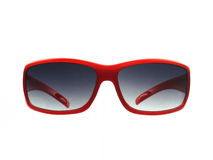 Red sunglass. A fashionable red sunglass isolated on white Stock Images