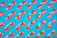 Red sunglass pattern Royalty Free Stock Image