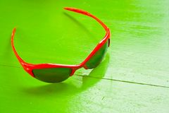 Red sunglasses Stock Images