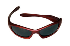 Red Sunglasses. Red Sporty Sunglasses Stock Photos