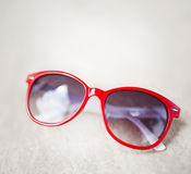 Red sunglasses Stock Image