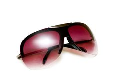 Red sunglasses isolated. On the white background Royalty Free Stock Photography