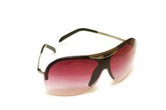 Red sunglasses isolated. On the white background Stock Photos