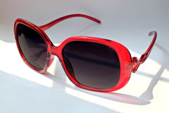 Red sunglasses isolated Royalty Free Stock Photos