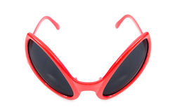 The red sunglasses isolated on white Stock Images