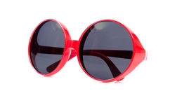 The red sunglasses isolated on white Royalty Free Stock Photography