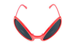 The red sunglasses isolated on white Royalty Free Stock Image