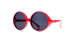 The red sunglasses isolated on white Stock Photography