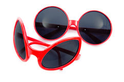 The red sunglasses isolated on white Stock Image