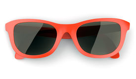 Red sunglasses isolated on white Stock Image