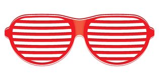 Red sunglasses isolated on white background Stock Images