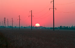 Red Sunrise Stock Photo
