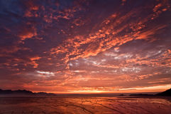 Red Sunrise Stock Photography