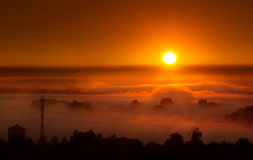 Red sunrise Royalty Free Stock Images
