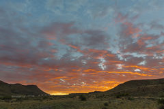 Red sunrise in the Karoo Royalty Free Stock Image
