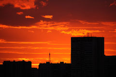 Red sunset Stock Photos