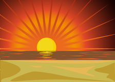 Red sunset Royalty Free Stock Photography
