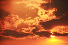 Red sunset Stock Photography
