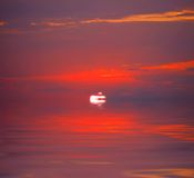 The red sunset Royalty Free Stock Photography