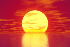 Red Sunset stock illustration