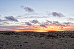 Red sunset background in patagonia Royalty Free Stock Photo
