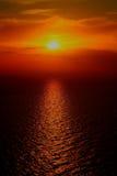 Red sunset. A beautiful sunset near Gallipoli Royalty Free Stock Image