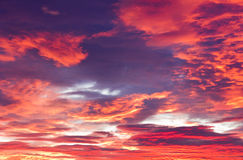 Red sunset clouds Stock Photos