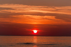 Red sunset. Royalty Free Stock Image
